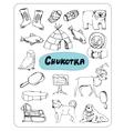 set of tourist attractions Chukotka vector image