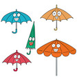set of umbrella vector image vector image