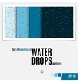 set water transparent drops seamless pattern vector image vector image