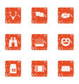 shiver icons set grunge style vector image vector image