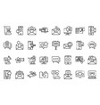 sms marketing icons set outline style vector image vector image
