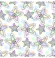 Stars seamless pattern in pastel colors Childish vector image vector image