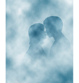 Steamy lovers vector image vector image