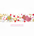 valentines day greeting card heart gift box vector image vector image