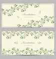 vintage floral invitation cards for your design vector image vector image