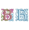 Vintage initials letter D vector image vector image