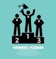 Winners Podium Symbol vector image