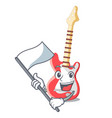 with flag electric guitar isolated with the mascot vector image