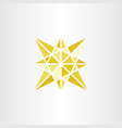 yellow icon star symbol geometric sign vector image vector image