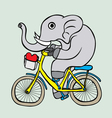 Cuta elephant cartoon vector image
