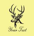 deer logo template design vector image