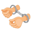 Hands Cuffed vector image