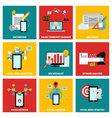 Social media job flat design vector image