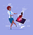 african american business woman having problem vector image