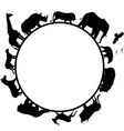 animal africa silhouette vector image
