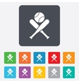 Baseball bats sign icon Sport symbol vector image