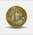 bitcoin money isolated on transparent background vector image