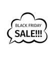 black friday sale creative design in retro style vector image