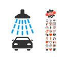 car shower icon with valentine bonus vector image vector image