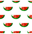 cartoon watermelons on white background seamless vector image