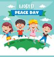 children celebrating world peace day vector image vector image