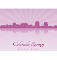 Colorado Springs skyline in radiant orchid vector image vector image
