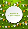 Congratulation Card with Bunting Hanging Pennants vector image vector image