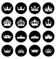 Crowns white icons set vector image