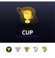Cup icon in different style vector image vector image
