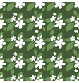 cute seamless pattern tiny white flowers vector image vector image