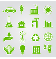 earth conservation and ecology icon set vector image vector image