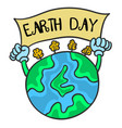 earth day with world collection vector image vector image
