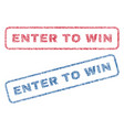enter to win textile stamps vector image