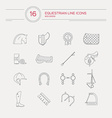Equestrian Icons vector image vector image