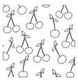 figure cherrys background icon vector image vector image