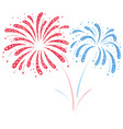 Fireworks red and blue vector image vector image