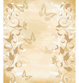 floral border on papyrus vector image vector image