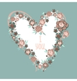flowers in heart shape vector image vector image
