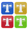 four square color icons lighthouse vector image vector image