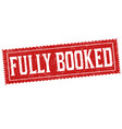 fully booked sign or stamp vector image vector image