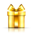 gift box gold icon open surprise present template vector image vector image