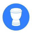 Goblet drum icon in black style isolated on white vector image vector image