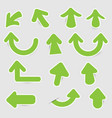 green paper arrow stickers with shadows vector image vector image