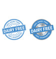 grunge stamp and silver label dairy free vector image vector image