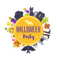 halloween banner template design vector image
