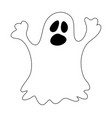 halloween ghost symbol icon design vector image