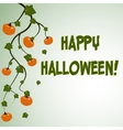 Halloween postcard with pumpkins vector image vector image
