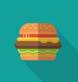 hamburger icon sign vector image