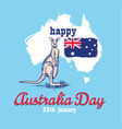 happy australia day 26 january vector image