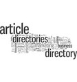how to setup your own article directory and get vector image vector image